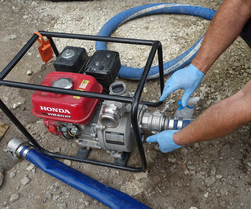 types of pumps used in water supply