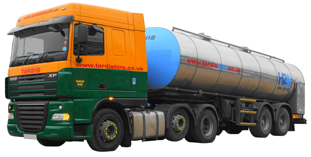 arcticulated lorry for bulk water