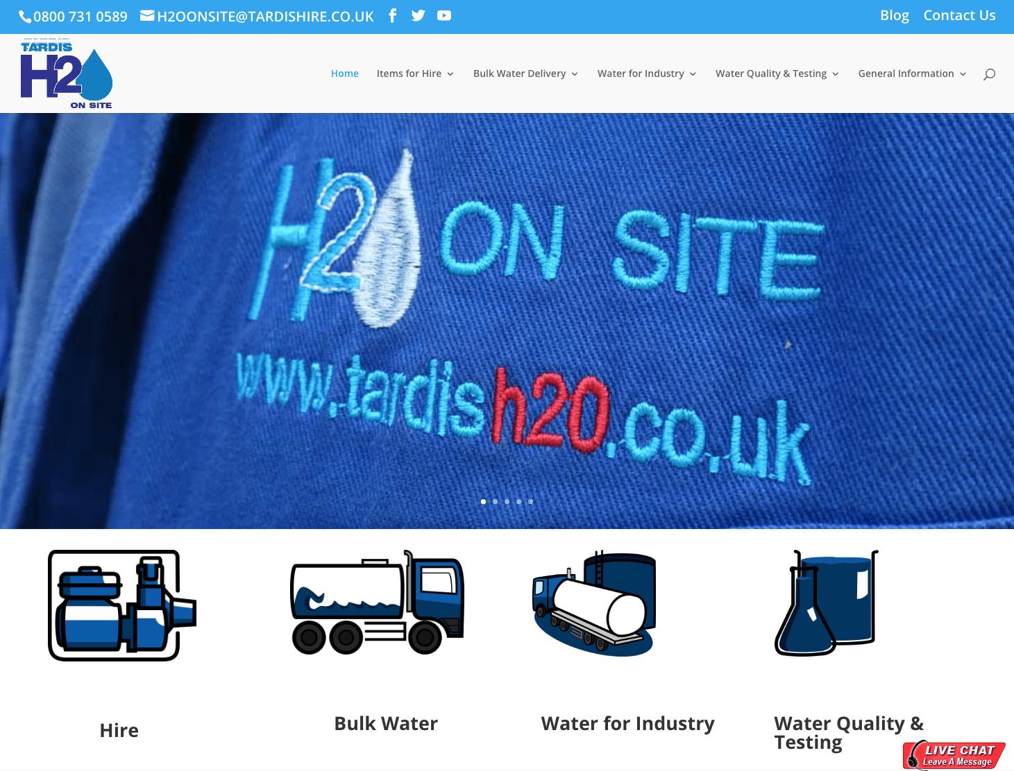 Tardis H2O homepage