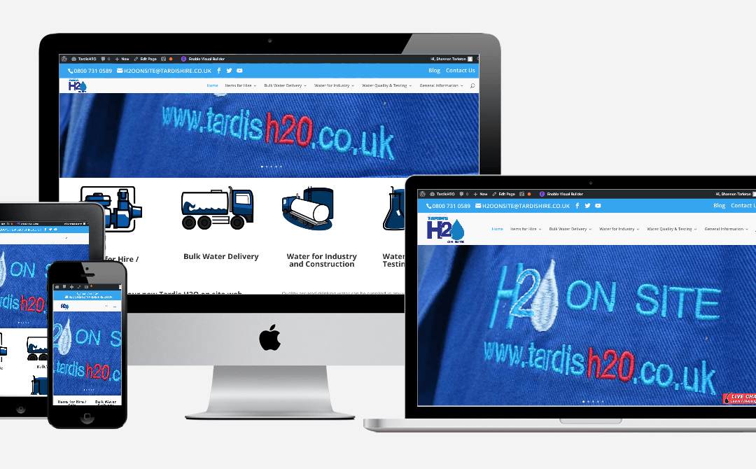 All new web site for Tardis H2O