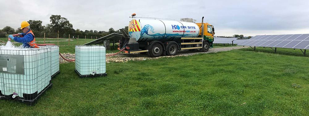5 Main Water Vessels for site- Bulk Water Delivery to site